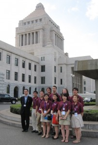 2011 Fellows at National Diet Building - Tokyo