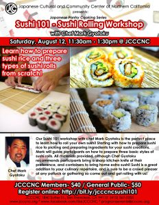 Sushi 101 Workshop @ JCCCNC | San Francisco | California | United States
