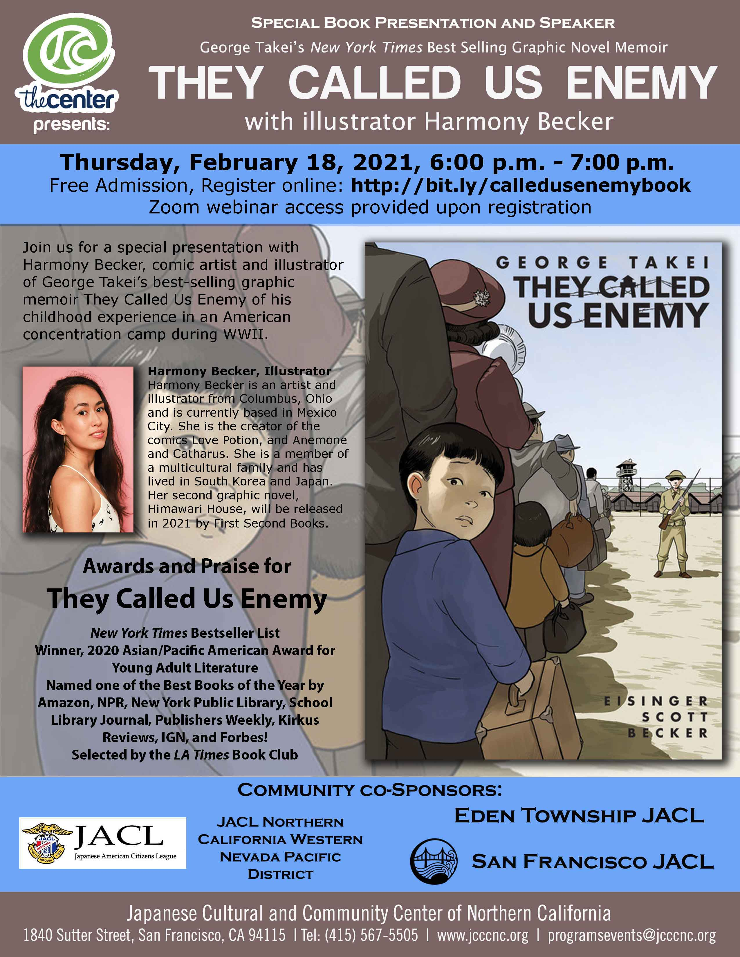 They Called Us Enemy – Book Presentation with Illustrator Harmony Becker