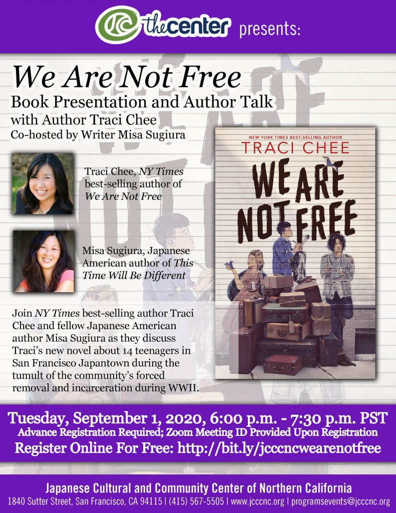 Author Talk: We Are Not Free by Traci Chee @ Online via Zoom webconferencing