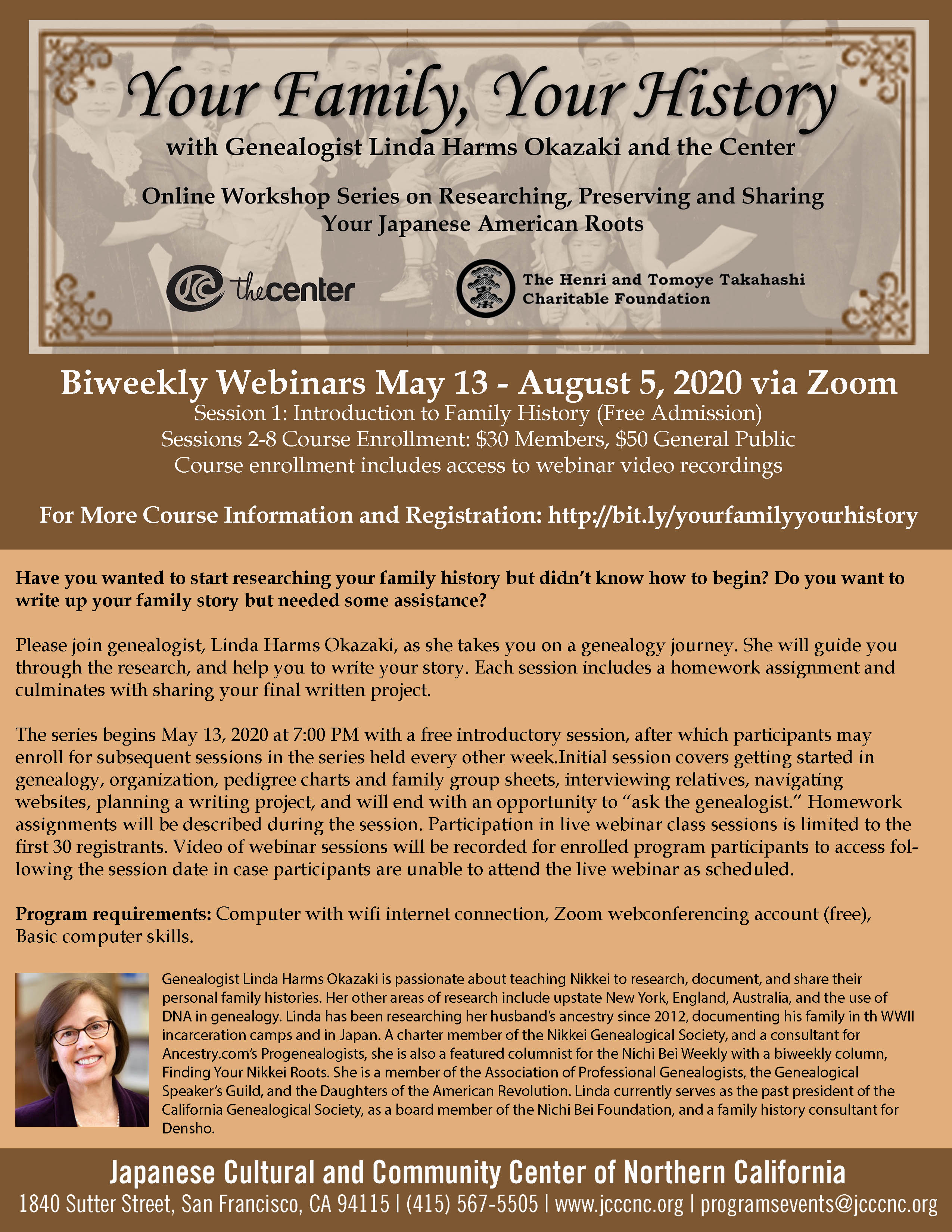 """""""Your Family, Your History"""" Japanese American Genealogy Webinar Series Session 8 – Project Presentations, 8/5/20"""