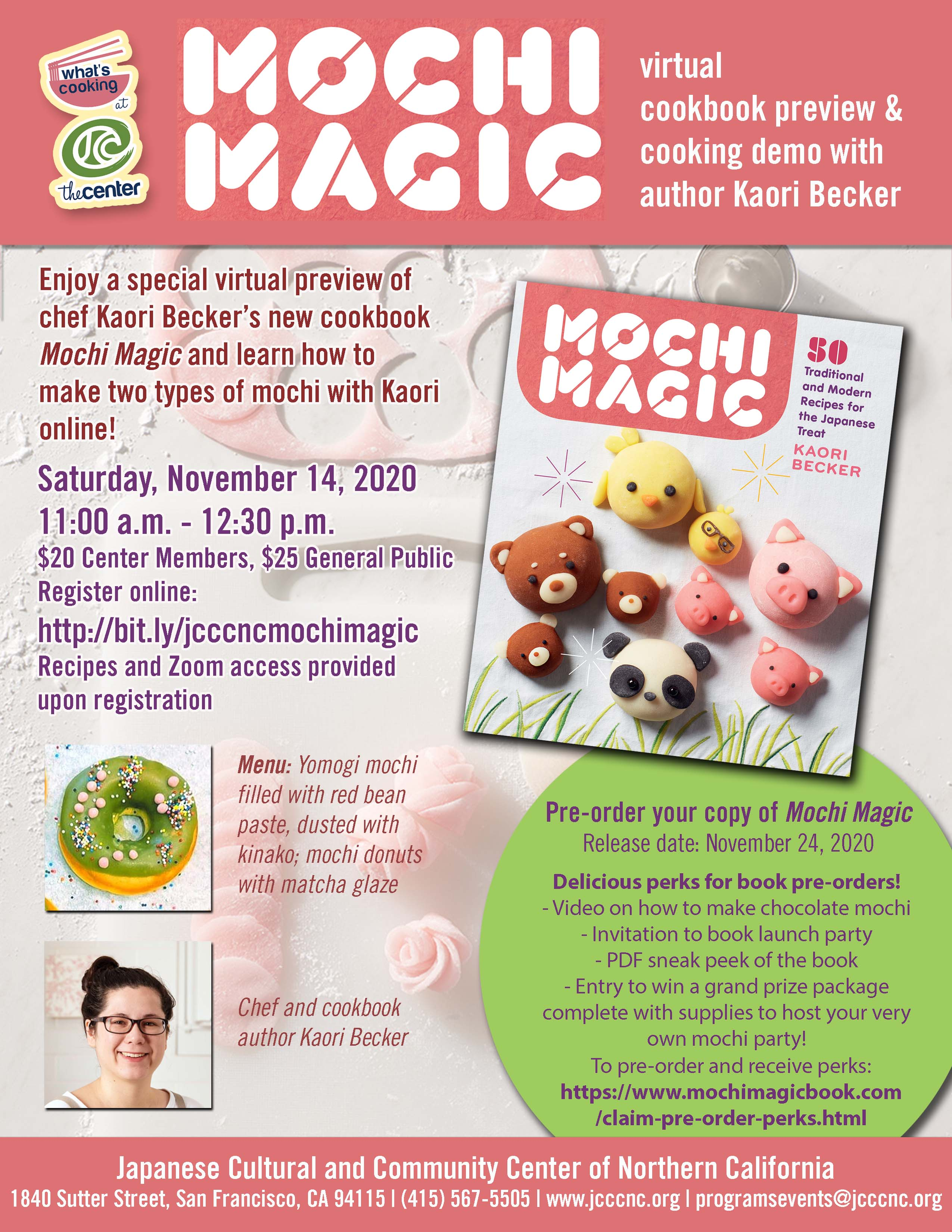 Mochi Magic with Kaori Becker: Cookbook Preview and Cooking Demo