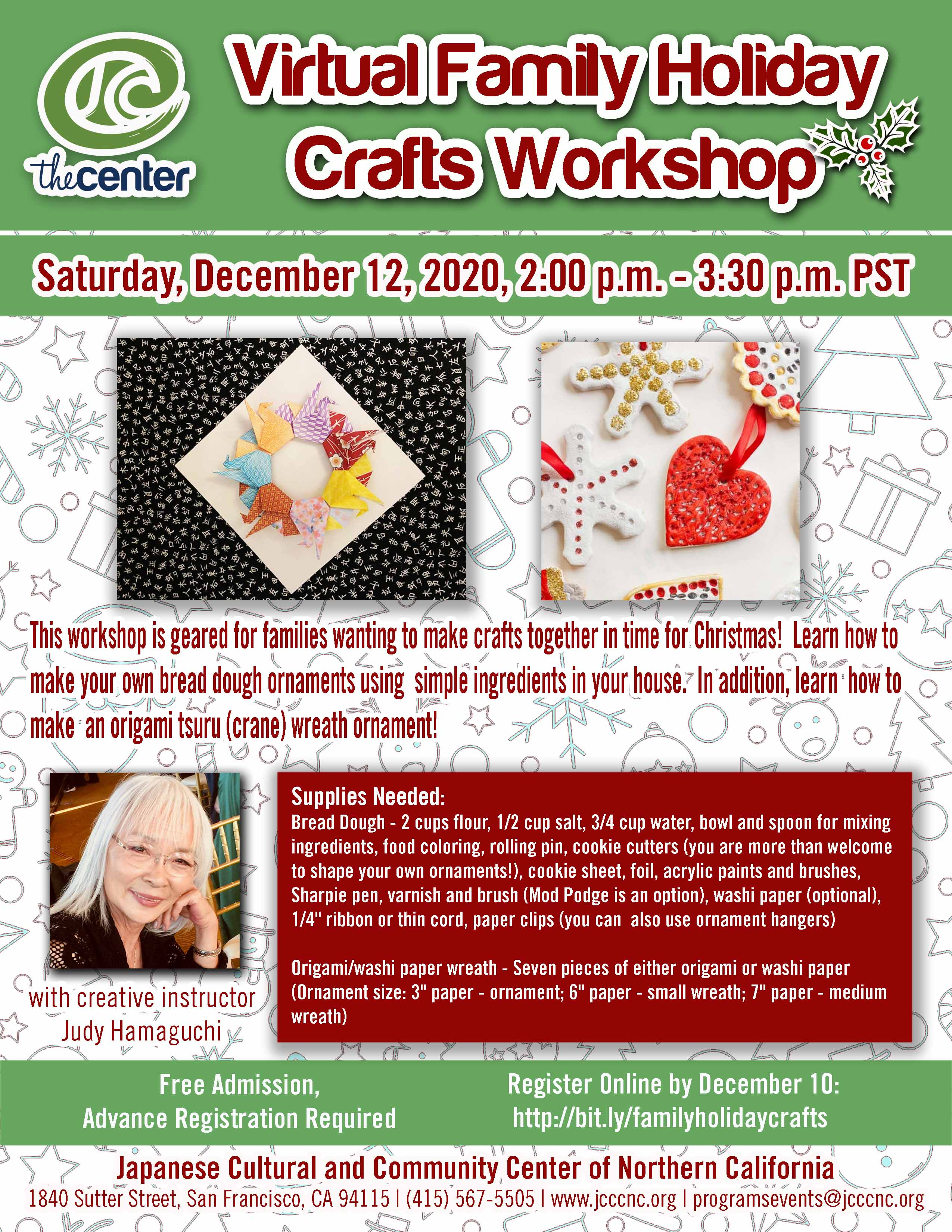 Family Holiday Crafts Workshop