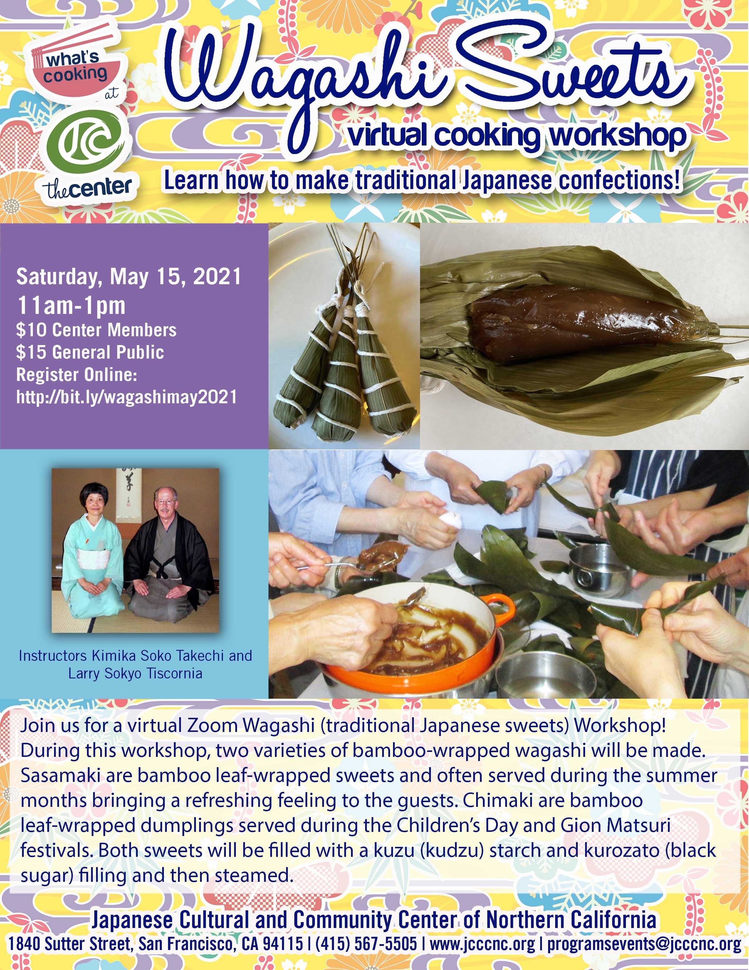 May 2021 Wagashi Sweets Virtual Workshop