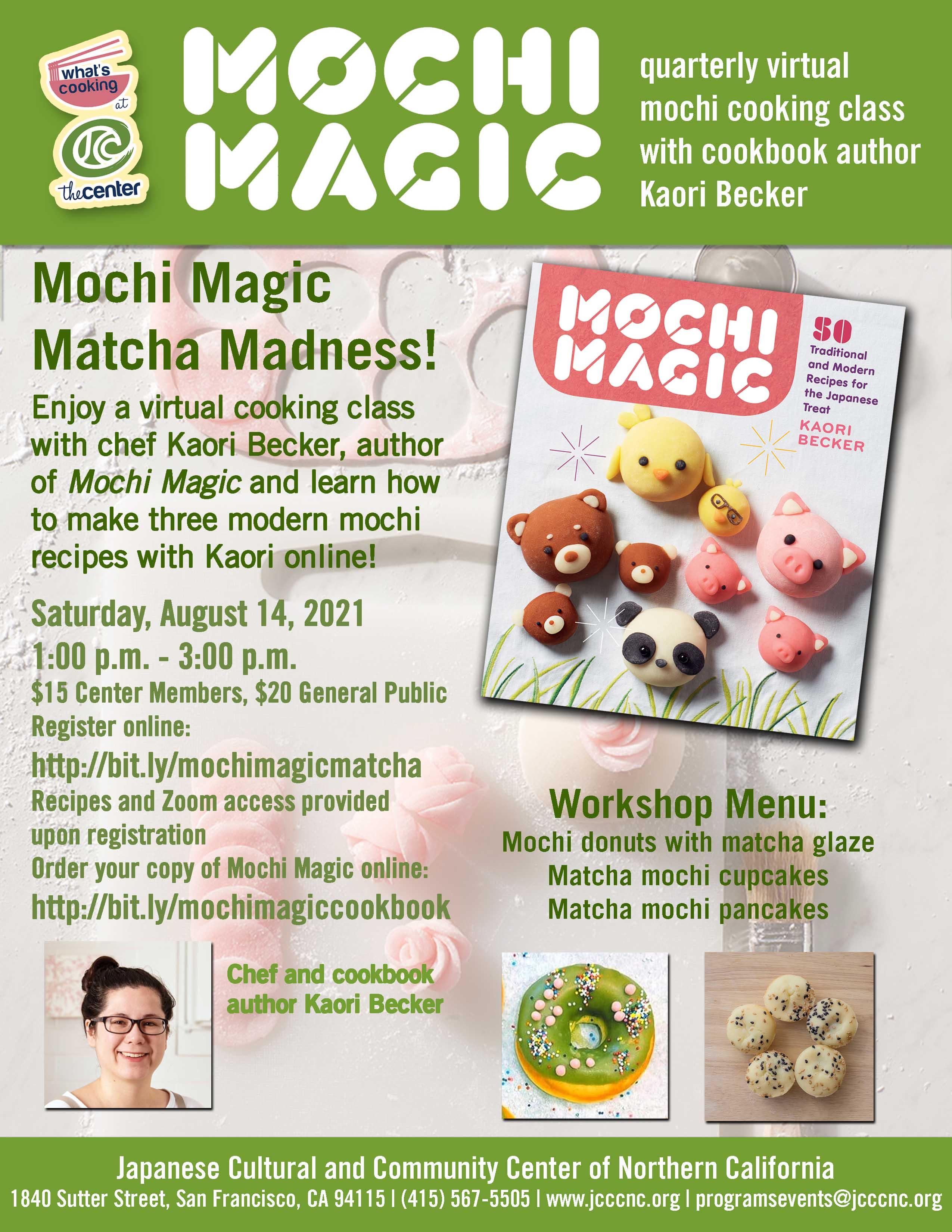 Mochi Magic – Matcha Madness Virtual Cooking Workshop with Chef Kaori Becker