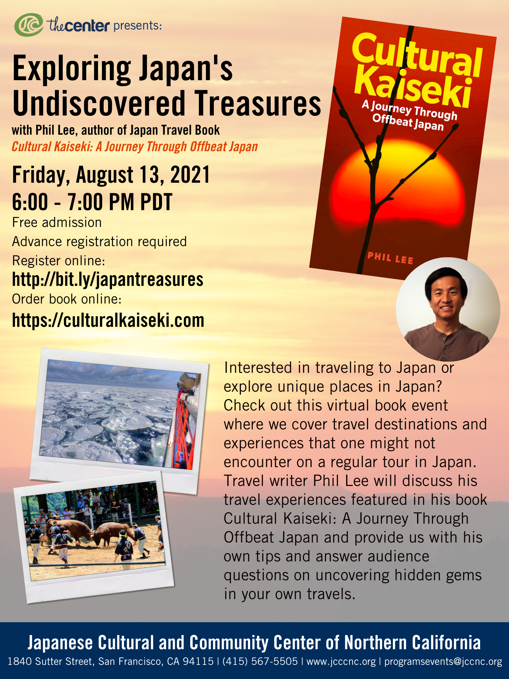 Virtual Author Talk: Exploring Japan's Undiscovered Treasures with Phil Lee author of Cultural Kaiseki: A Journey Through Offbeat Japan